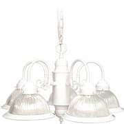 Volume Lighting Roth 5-Light Shaded Chandelier; Textured White