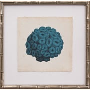 Mirror Image Home Mini Turquoise Coral I Framed Graphic Art