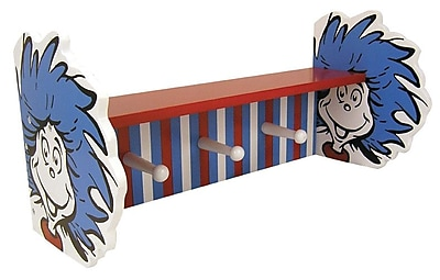 Trend Lab Dr. Seuss Cat in the Hat Thing 1 and Thing 2 Shelf w/ Peg