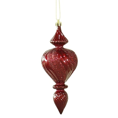 Vickerman Candy Finish Finial Christmas Ornament (Set of 3); Burgundy