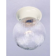 Volume Lighting Roth 1-Light Ceiling Fixture Flush Mount; White