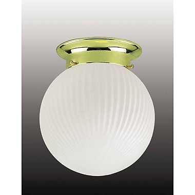 Volume Lighting Roth 1-Light Ceiling Fixture Flush Mount; Polished Brass