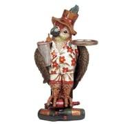 RAM Game Room Parrot Waiter Statue; 16'' H x 8'' W x 5'' D