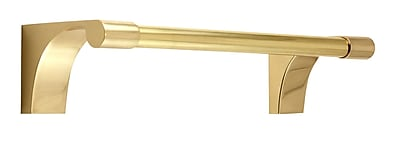 Alno Luna Guest 9'' Wall Mounted Towel Bar; Polished Brass
