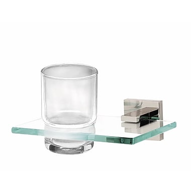 Alno Contemporary II Tumbler and Tumbler Holder; Polished Chrome