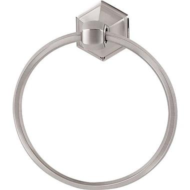Alno Nicole Wall Mounted Towel Ring; Satin Nickel