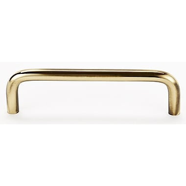 Alno Contemporary 4'' Center Appliance Pull; Polished Antique