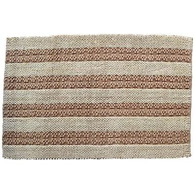 Imports Decor Natural Stripes Rug; Rectangle 2' x 3'
