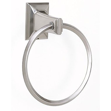 Alno Geometric Wall Mounted Towel Ring; Polished Antique