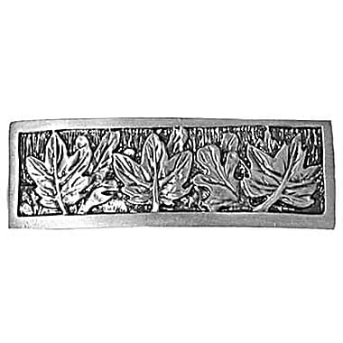 Sierra Lifestyles Nature Leaves 3'' Center Appliance Pull; Pewter