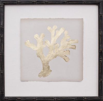 Mirror Image Home Mini Leaf Coral II Framed Graphic Art