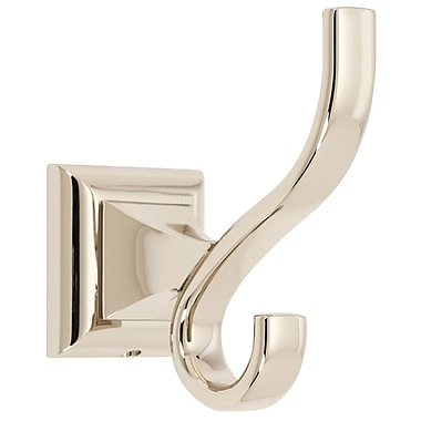 Alno Manhattan Wall Mounted Robe Hook; Polished Nickel