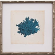Mirror Image Home Mini Turquoise Coral II Framed Graphic Art