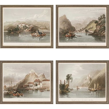 Paragon Europe II Giclee by Various 4 Piece Framed Painting Print Set
