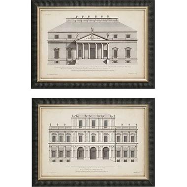 Paragon Vintage FacadeI by Hulsbergh 2 Piece Framed Graphic Art Set (Set of 2)
