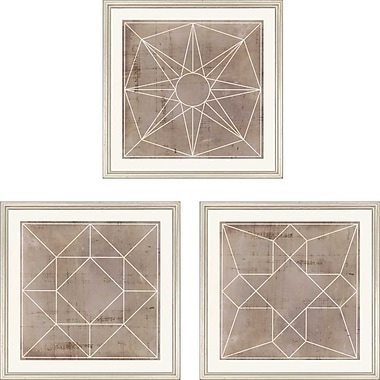 Paragon Geometric III Giclee by Anonymous 3 Piece Framed Graphic Art Set