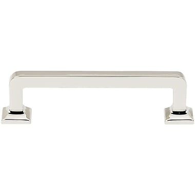 Alno Millennium 3 1/2'' Center Bar Pull; Polished Nickel