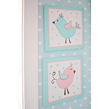 My Baby Sam Pixie Baby 2 Piece Wall Plaque; Aqua