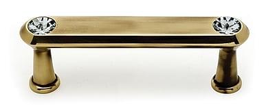 Alno Contemporary 3'' Center Bar Pull; Polished Antique