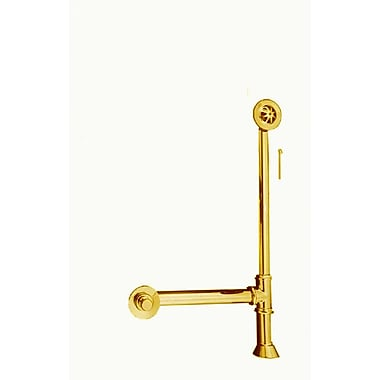 Strom Plumbing by Sign of the Crab Extended Waste and Overflow; Supercoated Brass