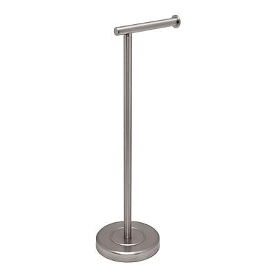 Gatco Latitude II Free Standing Toilet Paper Holder; Satin Nickel