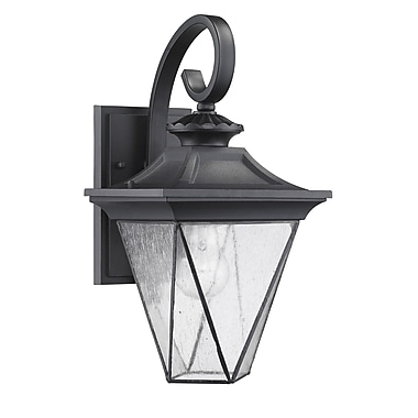 Chloe Lighting Transitional 1-Light Outdoor Wall Lantern; Black