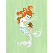 Evive Designs Mermaid and Baby Girl Paper Print