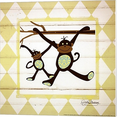 Evive Designs Monkeys Canvas Art