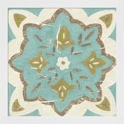 Evive Designs Rustic Tiles II by Chariklia Zarris Framed Painting Print