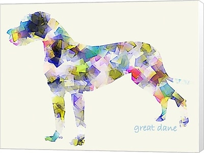 Evive Designs Great Dane by Bri Buckley Graphic Art on Wrapped Canvas