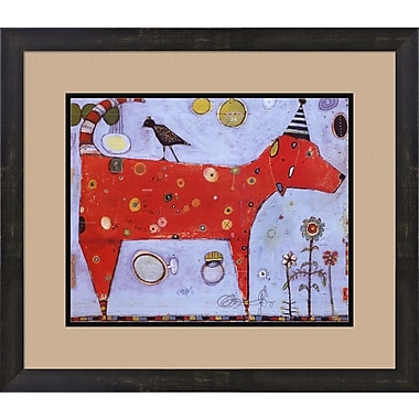 Evive Designs Red Bird by Jill Mayberg Framed Painting Print