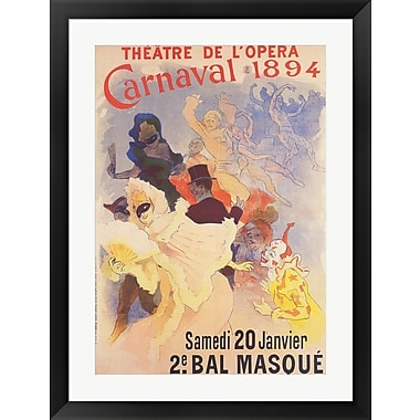 Evive Designs Theatre de l'Opera by Jules Cheret Framed Vintage Advertisement