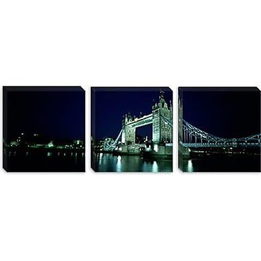 iCanvas Panoramic Tower Bridge, Thames River, London, England Photographic Print on Canvas
