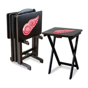 Imperial NHL TV Trays w/ Stand (Set of 4); Detroit Redwings