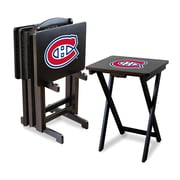 Imperial NHL TV Trays w/ Stand (Set of 4); Montreal Canadians