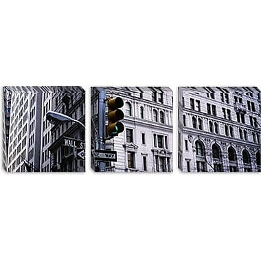 iCanvas Panoramic Wall Street, New York City Photographic Print on Canvas; 20'' H x 60'' W x 1.5'' D