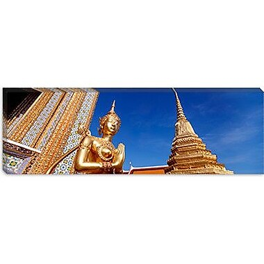 iCanvas Panoramic Wat Phra Kaeo, Grand Palace, Bangkok, Thailand Photographic Print on Canvas