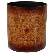 Oriental Furniture Olde-Worlde Leather Trash Can