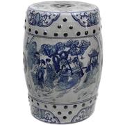 Oriental Furniture Ladies Porcelain Garden Stool