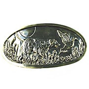 Sierra Lifestyles Fishing Sportsman Dog 3'' Center Cup/Bin Pull; Antique Brass