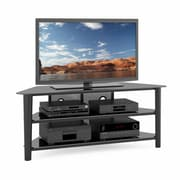 "CorLiving™ Alturas Wood Veneer TV Stand For 42""- 68"" TVs, Black Stain"