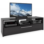 "CorLiving™ Naples TV/Component Bench For 42"" - 68"" TVs, Wood Grain Black"