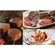 Gourmet Steak Sampler Omaha Steaks 2 Filet Mignons (6 Oz.) & 2 Boneless Strips (11 Oz.) & 2 Top Sirloins (6 Oz.)