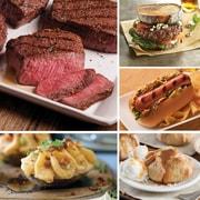 Omaha Steaks 2 Top Sirloins,4 Omaha Steaks Burgers,4 Gourmet Jumbo Franks,4 Stuffed Baked Potatoes & 4 Caramel Apple Tartlets