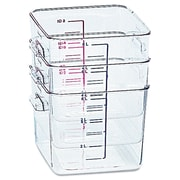 Rubbermaid® Square Space-Saving Container, 8 Quart
