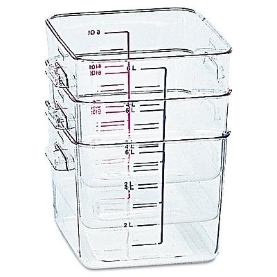 Rubbermaid® Square Space-Saving Container, 8 Quart