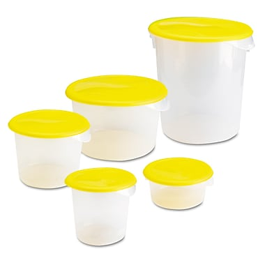 Polypropylene Quart Round Storage Container, Clear