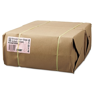 Lagasse Paper Shopping Bags, Brown, 500/Pack
