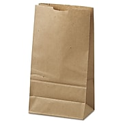 "Lagasse Natural Paper 2""H x 2.6""Dia. Solid Shopping Bags, Brown, 500/Bundle"