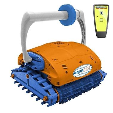 Blue Wave Aquafirst Turbo Robotic Remote Control In-Ground Pool Cleaner, Orange/Blue